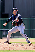 July 24, 2009: Pitcher Caleb Brewer of the GCL Braves delivers a pitch during a game at Disney Wide World of Sports in Orlando, FL.  Brewer was selected in the 14th Round (438th overall) of 2007 amateur entry draft.  The GCL Braves are the Gulf Coast Rookie League affiliate of the Atlanta Braves.  Photo By Mark LoMoglio/Four Seam Images