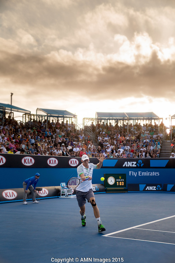 Kevin Anderson (RSA)<br /> <br /> Tennis - Australian Open 2015 - Grand Slam -  Melbourne Park - Melbourne - Victoria - Australia  - 23 January 2015. <br /> &copy; AMN IMAGES