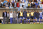 20 March 2008: Honduras coaches and players on the bench watch the penalty kick shootout. The Honduras U-23 Men's National Team defeated the Guatemala U-23 Men's National Team 6-5 on penalty kicks after a 0-0 overtime tie at LP Field in Nashville,TN in a semifinal game during the 2008 CONCACAF Men's Olympic Qualifying Tournament. With the penalty kick victory, Honduras qualifies for the 2008 Beijing Olympics.