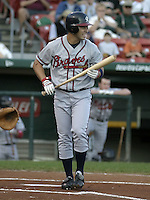 September 15, 2004:  Adam Stern of the Richmond Braves, Triple-A International League affiliate of the Atlanta Braves, during a game at Dunn Tire Park in Buffalo, NY.  Photo by:  Mike Janes/Four Seam Images