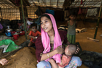Rohingyas refugees from Myanmar arrive into Bengladesh, September 17, 2017.<br /> <br /> PHOTO :   Faiham Ebna Sharif - <br />  Agence Quebec Presse