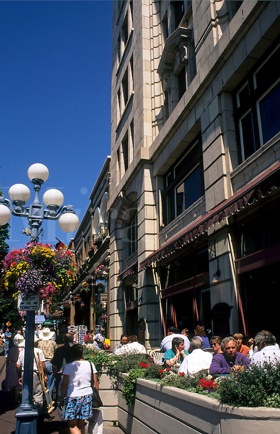 City center and cafes, Victoria, British Columbia, Canada