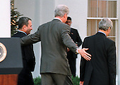 Washington, DC - December 16, 1999 -- United States President Bill Clinton walks Prime Minister Ehud Barak of Israel and  Foreign Minister Farouk al-Sharaa of Syria back to the White House following the conclusion of their two days of talks in Washington on 16 December, 1999..Credit: Ron Sachs / CNP