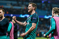 Toby Alderweireld of Tottenham Hotspur celebrates after the UEFA Champions League Quarter Final second leg match between Manchester City and Tottenham Hotspur at the Etihad Stadium on April 17th 2019 in Manchester, England. (Photo by Daniel Chesterton/phcimages.com)<br /> Foto PHC/Insidefoto <br /> ITALY ONLY