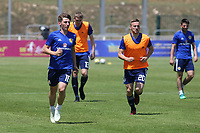 Billy Gilmour (left) of Scotland U21's warms up ahead of kick-off during South Korea Under-21 vs Scotland Under-21, Tournoi Maurice Revello Football at Stade Parsemain on 2nd June 2018