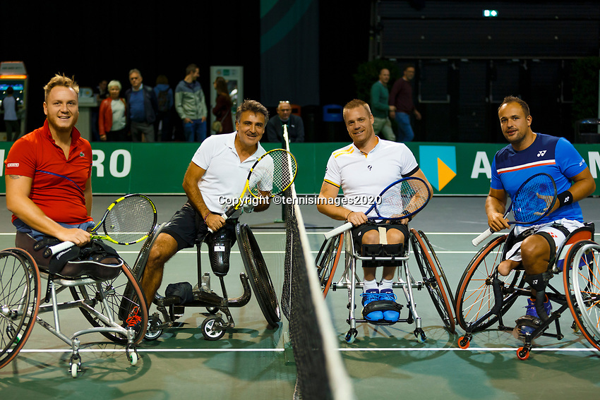 Rotterdam, The Netherlands, 9 Februari 2020, ABNAMRO World Tennis Tournament, Ahoy, Wheelchair: Tom Egberink (NED) and Maikel Scheffers (NED), Stephane Houdet (FRA) and Nicolas Peifer (FRA).<br /> Photo: www.tennisimages.com