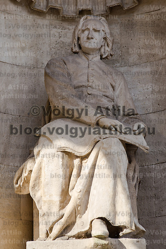 Sculpture of Ferenc Liszt outside the Hungarian State Opera House in Budapest, Hungary on January 22, 2011. ATTILA VOLGYI