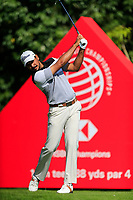 Gaganjeet Bhullar (IND) on the 16th tee during the 3rd round at the WGC HSBC Champions 2018, Sheshan Golf CLub, Shanghai, China. 27/10/2018.<br /> Picture Fran Caffrey / Golffile.ie<br /> <br /> All photo usage must carry mandatory copyright credit (&copy; Golffile | Fran Caffrey)