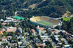 Aerial views of the California Memorial Stadium, Home of the California Bears USC Berkeley, CA