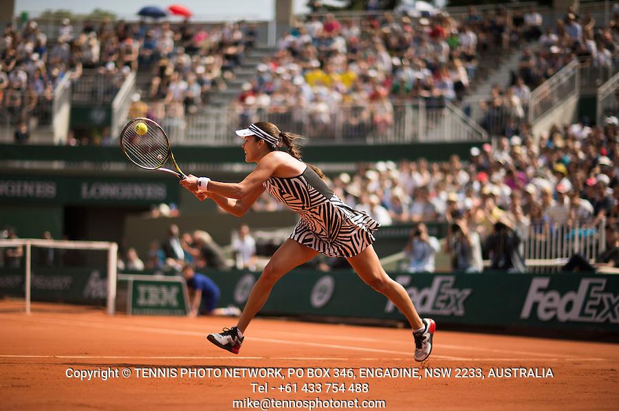 ANA IVANOVIC (SRB)<br /> <br /> TENNIS - FRENCH OPEN - ROLAND GARROS - ATP - WTA - ITF - GRAND SLAM - CHAMPIONSHIPS - PARIS - FRANCE - 2016  <br /> <br /> <br /> <br /> &copy; TENNIS PHOTO NETWORK
