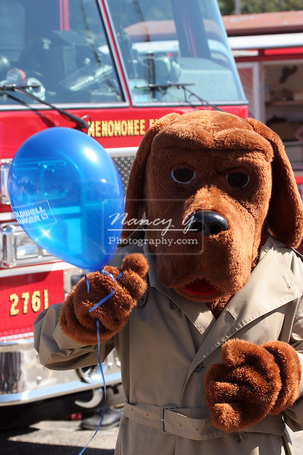 McGruff police crime fighting dog at a Safety Fair in Wisconsin greifenhagen