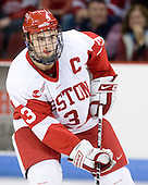 Kevin Shattenkirk (BU - 3) would be named first star of the night. - The Boston University Terriers defeated the Merrimack College Warriors 6-4 on Saturday, November 14, 2009, at Agganis Arena in Boston, Massachusetts.