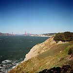 The trails surround the Legion of Honor in Lincoln Park offer stunning views of the Golden Gate