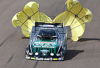 Feb 23, 2014; Chandler, AZ, USA; NHRA funny car driver John Force during the Carquest Auto Parts Nationals at Wild Horse Motorsports Park. Mandatory Credit: Mark J. Rebilas-USA TODAY Sports
