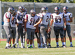 Palos Verdes, CA 09/16/16 - Ryan Carroll (Torrance #2), \t83\, Jason Samonte (Torrance #70) and unidentified Torrance player(s) in action during the Torrance - Palos Verdes Peninsula CIF Varsity football game.