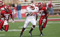 Wisconsin's P.J. Hill rushes for yardage, as the Badgers top the Hoosiers 52-17 on Saturday at Memorial Stadium in Bloomington, Indiana