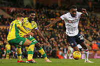 Bolton Wanderers Lloyd Dyer tries to get round Norwich City's Jordan Rhodes &amp; Alexander Tettey<br /> <br /> Photographer David Shipman/CameraSport<br /> <br /> The EFL Sky Bet Championship - Norwich City v Bolton Wanderers - Saturday 8th December 2018 - Carrow Road - Norwich<br /> <br /> World Copyright &copy; 2018 CameraSport. All rights reserved. 43 Linden Ave. Countesthorpe. Leicester. England. LE8 5PG - Tel: +44 (0) 116 277 4147 - admin@camerasport.com - www.camerasport.com