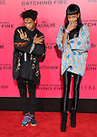 LOS ANGELES, CA - NOVEMBER 18: Willow Smith & Jaden Smith arrives at   THE HUNGER GAMES: CATCHING FIRE L.A. Premiere held at Nokia Live  in Los Angeles, California on November 18,2012                                                                               © 2013  Hollywood Press Agency