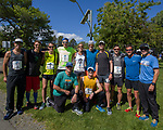 The Fueled by Isagenix team poses for a photo at the 2019 Reno Tahoe Odyssey finish at Idlewild Park in Reno on Saturday, June 1, 2019.