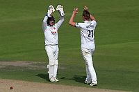 Tom Westley of Essex celebrates taking the wicket of Ben Duckett during Nottinghamshire CCC vs Essex CCC, Specsavers County Championship Division 1 Cricket at Trent Bridge on 12th September 2018