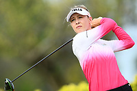SINGAPORE - MARCH 02: Nelly Korda of USA on the 3rd tee during the third round of the HSBC Women's World Championship 2019 at Sentosa Golf Club - Tanjong Course, Singapore on March 02, 2019.<br /> .<br /> .<br /> .<br /> (Photo by: Naratip Golf Srisupab/SEALs Sports Images)<br /> .<br /> Any image use must include a mandatory credit line adjacent to the content which should read: Naratip Golf Srisupab/SEALs Sports Images