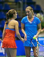 18-12-13,Netherlands, Rotterdam,  Topsportcentrum, Tennis Masters, Olga Kalyuzhnaya and Danielle Harmsen<br /> Photo: Henk Koster