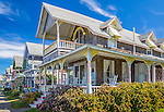 Victorian cottages at he Martha's Vineyard Camp Meeting Association in Oak Bluffs, Marthas Vineyard, MA, USA