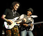 Steve Vai and Vernon Reid (Living Colour) perform on the Experience Hendrix Tour, celebrating the music of Jimi Hendrix, at the Hippodrome Theater in Baltimore, Md. Nov. 11, 2010..Copyright EML/Rockinexposures.com.