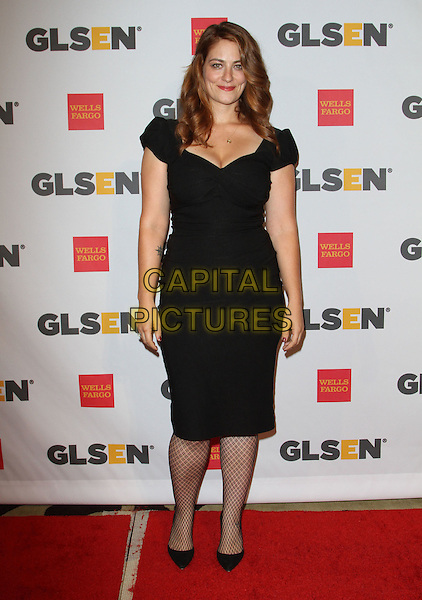 Clementine Ford.2011 GLSEN Respect Award held at The Beverly Hills Hotel, Beverly Hills, California, USA, .21st October 2011.full length black dress  fishnet tights shoes .CAP/ADM/KB.©Kevan Brooks/AdMedia/Capital Pictures.