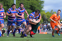 David McErlean scores during the 2018 Heartland Championship Lochore Cup rugby final between Horowhenua Kapiti and Wairarapa Bush at Levin Domain in Levin, New Zealand on Sunday, 28 October 2018. Photo: Dave Lintott / lintottphoto.co.nz