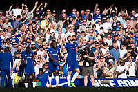 Chelsea's Olivier Giroud celebrates scoring the opening goal <br /> <br /> Photographer Craig Mercer/CameraSport<br /> <br /> The Premier League - Chelsea v Liverpool - Sunday 6th May 2018 - Stamford Bridge - London<br /> <br /> World Copyright &copy; 2018 CameraSport. All rights reserved. 43 Linden Ave. Countesthorpe. Leicester. England. LE8 5PG - Tel: +44 (0) 116 277 4147 - admin@camerasport.com - www.camerasport.com