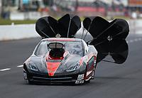 May 5, 2017; Commerce, GA, USA; NHRA pro mod driver Kevin Rivenbark during qualifying for the Southern Nationals at Atlanta Dragway. Mandatory Credit: Mark J. Rebilas-USA TODAY Sports