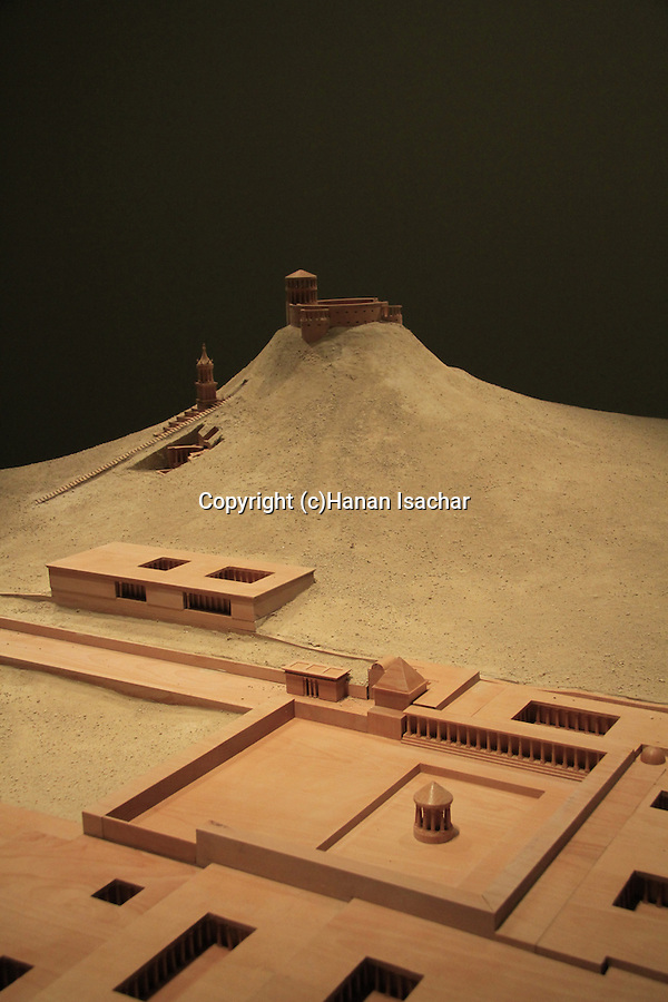 Israel, Jerusalem, a model of Herodion at Herod the Great: The King's Final Journey exhibition at the Israel Museum