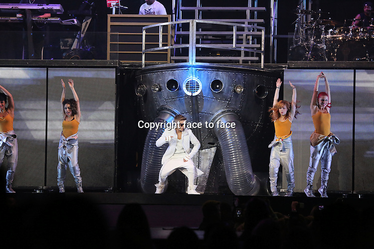 ATLANTA, GA- August 10: Justin Bieber performing as part of The Believe Tour on August 10, 2013 at Philips arena in Atlanta. <br />