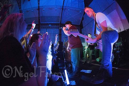 10 Jan 2015 - STOWMARKET, GBR - Renegade Twelve's Sam Robson (left) on vocals and Jake Mayes (right) on lead guitar perform at the John Peel Centre for Creative Arts in Stowmarket, Suffolk, Great Britain (PHOTO COPYRIGHT © 2015 NIGEL FARROW, ALL RIGHTS RESERVED)