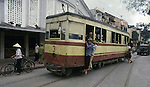 Cable cars that the French built  are stilled used as transortation in Hanoi, North Vietnam.  (Jim Bryant Photo).....