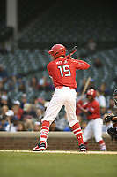 TEMPORARY UNEDITED FILE:  Image may appear lighter/darker than final edit - all images cropped to best fit print size.  <br /> <br /> Under Armour All-American Game presented by Baseball Factory on July 20, 2018 at Wrigley Field in Chicago, Illinois.  (Mike Janes/Four Seam Images) Bobby Witt Jr. is a shortstop from Colleyville Heritage High School in Colleyville, Texas committed to Oklahoma.