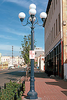 San Diego: Lamp Standard. Lower Fifth Ave., Gaslamp District. Photo '81.