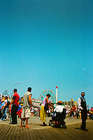 coney island, new york, brooklyn, amusement park, people, historical, color, vibrant, melting pot, rides, landmark,documentary
