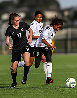 Dayna Stevens. OFC U-19 Women's Championship 2017, New Zealand v Fiji, Ngahue Reserve Auckland, Tuesday 11th July 2017. Photo: Simon Watts / www.bwmedia.co.nz