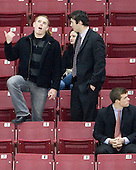 Kenny Ryan, Edwin Shea (BC - 8), Brooks Dyroff (BC - 14) - The Boston College Eagles defeated the Northeastern University Huskies 5-1 on Saturday, November 7, 2009, at Conte Forum in Chestnut Hill, Massachusetts.