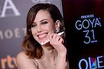 Natalia de Molina attends to the Red Carpet of the Goya Awards 2017 at Madrid Marriott Auditorium Hotel in Madrid, Spain. February 04, 2017. (ALTERPHOTOS/BorjaB.Hojas)