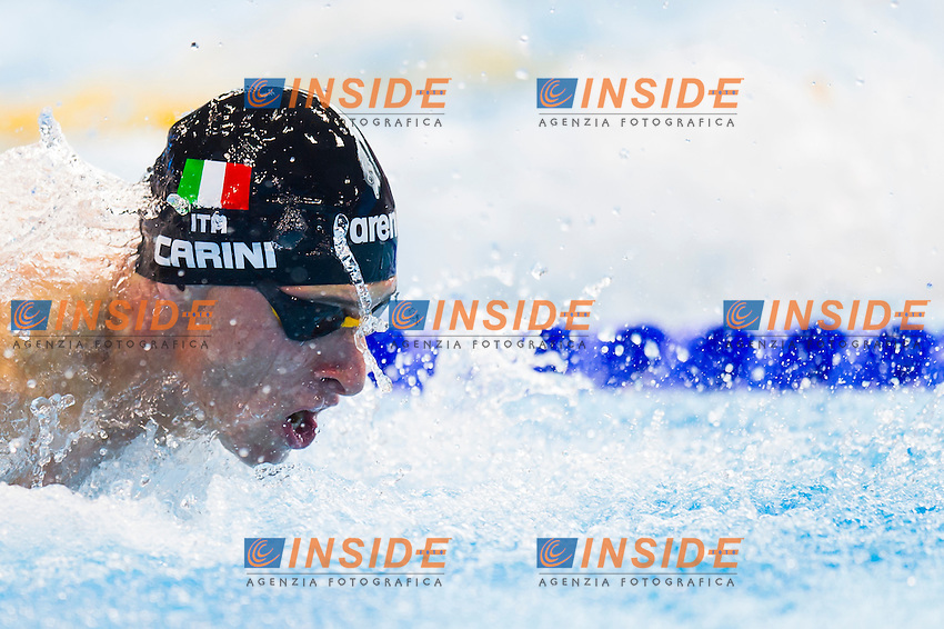 CARINI Giacomo ITA<br /> London, Queen Elizabeth II Olympic Park Pool <br /> LEN 2016 European Aquatics Elite Championships <br /> Swimming<br /> Men's 50m butterfly preliminary <br /> Day 08 16-05-2016<br /> Photo Giorgio Perottino/Deepbluemedia/Insidefoto
