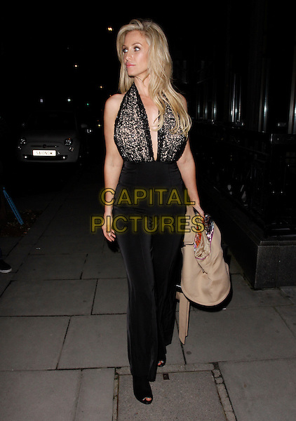 LONDON, ENGLAND - FEBRUARY 27 : Josie Gibson leaves the Inanch London - launch party at the Iberica Marylebone Restaurant  on February 27, 2014 in London, England.<br /> CAP/AH<br /> &copy;Adam Houghton/Capital Pictures