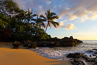 Sunset at Secret Beach, Maui.