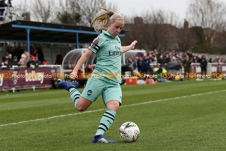Beth Mead of Arsenal during West Ham United Women vs Arsenal Women, FA Women's Super League Football at Rush Green Stadium on 6th January 2019