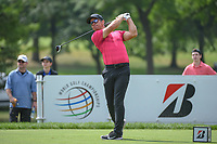 Paul Casey (GBR) watches his tee shot on 3 during 1st round of the World Golf Championships - Bridgestone Invitational, at the Firestone Country Club, Akron, Ohio. 8/2/2018.<br /> Picture: Golffile | Ken Murray<br /> <br /> <br /> All photo usage must carry mandatory copyright credit (&copy; Golffile | Ken Murray)