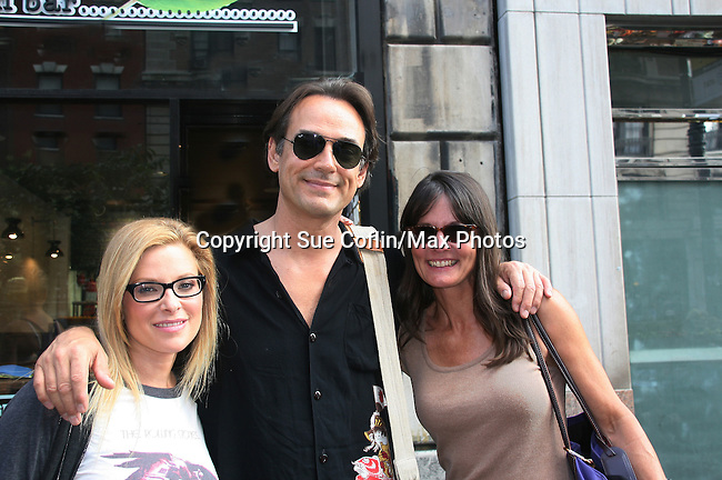 As The World Turns' Cady McClain, Jon Lindstrom and Lynn Herring strolling on the streets of New York City, New York. (Photo by Sue Coflin/Max Photos)