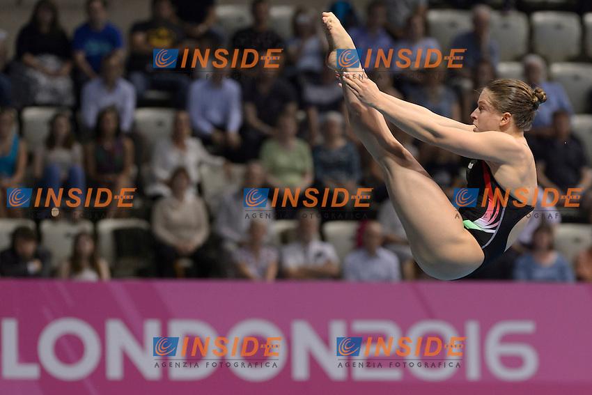 BATKI Noemi ITA<br /> Team Event Final <br /> London, Queen Elizabeth II Olympic Park Pool <br /> LEN 2016 European Aquatics Elite Championships <br /> Diving  <br /> Day 01 20160509<br /> Photo Andrea Staccioli/Deepbluemedia/Insidefoto