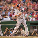 25 August 2016: Baltimore Orioles outfielder Mark Trumbo in action against the Washington Nationals at Nationals Park in Washington, DC. The Nationals blanked the Orioles 4-0 to salvage one game of their 4-game home and away series. Mandatory Credit: Ed Wolfstein Photo *** RAW (NEF) Image File Available ***